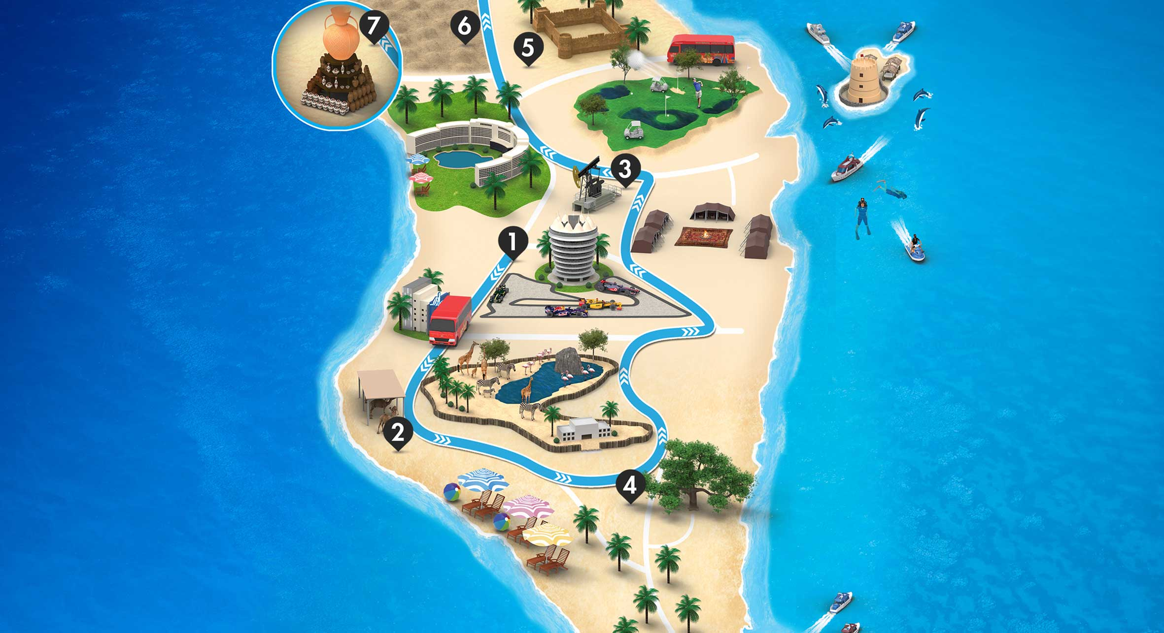 Desert Tour Map - Visit Baharain